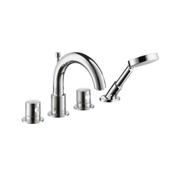 AXOR Uno 4-Hole Rim-Mounted Bath Mixer DN15 | Bath taps | AXOR