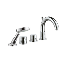 AXOR Uno 4-Hole Thermostatic Rim-Mounted Bath Mixer DN15 | Bath taps | AXOR