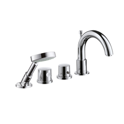 AXOR Uno 4-Hole Thermostatic Tile Mounted Bath Mixer DN15 | Bath taps | AXOR