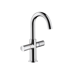 AXOR Uno 2-Handle Basin Mixer for hand basins with high swivel spout DN15 | Wash basin taps | AXOR