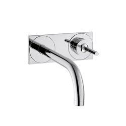 AXOR Uno Single Lever Basin Mixer for concealed installation with plate and spout 225 mm wall mounting DN15 | Wash-basin taps | AXOR