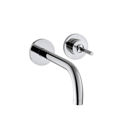 AXOR Uno Single Lever Basin Mixer for concealed installation with escutcheons and spout 165 mm wall mounting DN15 | Wash basin taps | AXOR