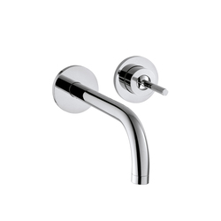 AXOR Uno Single Lever Basin Mixer for concealed installation with escutcheons and spout 225mm wall mounting DN15 | Wash basin taps | AXOR