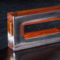 Monoforo orange | Decorative glass | Poesia