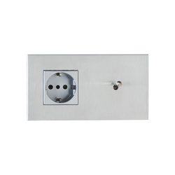 Sydney special coating | Switches with integrated sockets (Schuko) | Luxonov