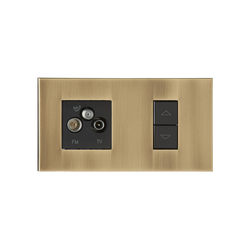 Paris VO vieil or | USB power sockets | Luxonov