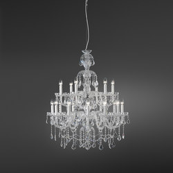 Romantic | Ceiling suspended chandeliers | ITALAMP