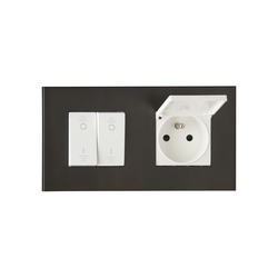 Paris BR bronze | Switches with integrated sockets (Schuko) | Luxonov