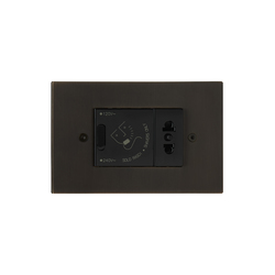 Paris special coating | Switches with integrated sockets (Schuko) | Luxonov