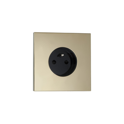 Siam LM laiton miroir | Schuko sockets | Luxonov