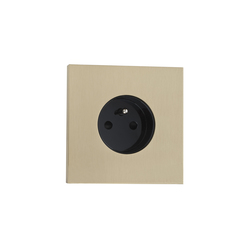 Siam LB laiton brossé | Schuko sockets | Luxonov