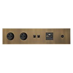 Siam VO vieil or | Schuko sockets | Luxonov
