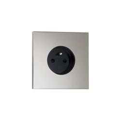 Siam NM nickel miroir | Schuko sockets | Luxonov