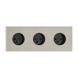 Siam NB nickel brassé | Schuko sockets | Luxonov