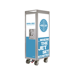 bordbar Pan Am edition jetset lightblue | Service Trolleys / Tische | bordbar