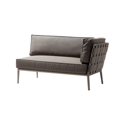 Conic 2-seater sofa right module | Sofás de jardín | Cane-line
