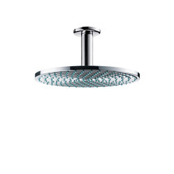 hansgrohe Raindance S 240 Air 1jet overhead shower EcoSmart 9 l/min with ceiling connector 100 mm | Shower taps / mixers | Hansgrohe