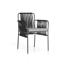 Nido Sedia con braccioli rivestita | Sedie da giardino | Expormim