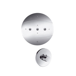 hansgrohe Raindance Rainmaker Ø 600 mm Air 3jet overhead shower without lighting set | Shower taps / mixers | Hansgrohe