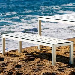 Mar de Aluminio Bench | Bancs de jardin | Sistema Midi
