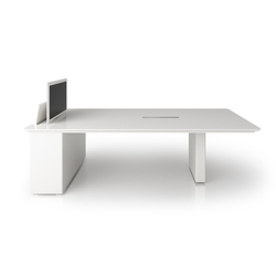 X6 Hide Desk | Tables multimédia pour conferences | Holzmedia