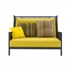 Elizabeth | Small Settee Black Stained Ash Complete Item | Sofas | Ligne Roset
