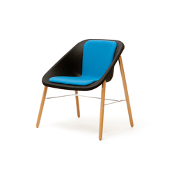 Kola Light Wood Cushion | Visitors chairs / Side chairs | Inno