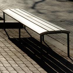 NeoRomántico banqueta 100% aluminio | Exterior benches | Santa & Cole