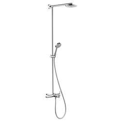 Hansgrohe Raindance Showerpipe 180 single lever mixer EcoSmart for bath tub with 460mm shower arm DN15 | Shower taps / mixers | Hansgrohe