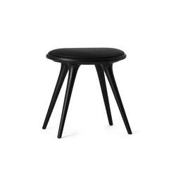 Low Stool black stained hardwood 47 | Polsterhocker | Mater