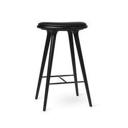 High Stool - Black Stained Beech - 74 cm | Bar stools | Mater