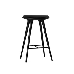 High Stool black stained hardwood 74 | Tabourets de bar | Mater