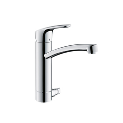 Hansgrohe Focus E² Single Lever Kitchen Mixer DN15 with device shut-off valve | Kitchen taps | Hansgrohe