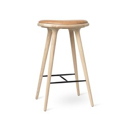 High Stool - Natural Soaped Oak - 74 cm | Bar stools | Mater