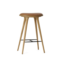 High Stool soaped oak 74 | Bar stools | Mater