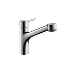 Hansgrohe Talis S Single Lever Kitchen Mixer DN15 with pull-out spray for vented hot water cylinders | Kitchen taps | Hansgrohe