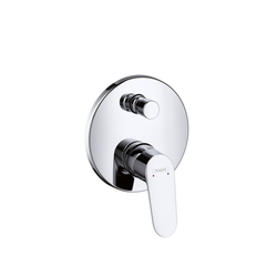 Hansgrohe Focus Single Lever Bath Mixer for concealed installation with integrated security combination according to EN1717 | Bath taps | Hansgrohe