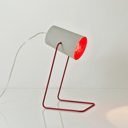 Paint T cemento rouge | Luminaires de table | IN-ES.ARTDESIGN