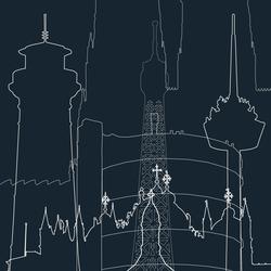 Architektur | Panneau | col1 | Dekorstoffe | Sabine Röhse