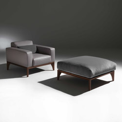 Fellow easychair and pouf | Sessel | Porada