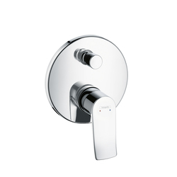 Hansgrohe Metris Single Lever Bath Mixer for concealed installation with integrated security combination according to EN1717 | Robinetterie pour baignoire | Hansgrohe