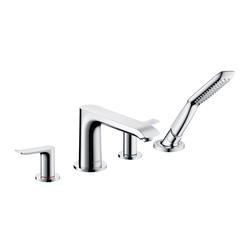 Hansgrohe Metris Grifería de 4 agujeros para borde de bañera | Grifería para bañeras | Hansgrohe