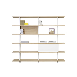 Proust Bookshelf P750F 3x7 | Office shelving systems | ASPLUND