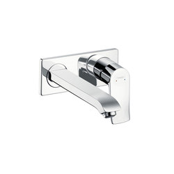 hansgrohe Metris Single lever basin mixer for concealed installation with spout 225 mm wall-mounted | Wash basin taps | Hansgrohe