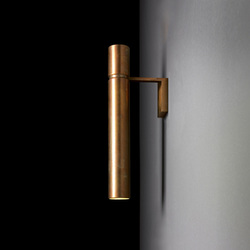 Tubular Light | Wall lights in brass | HENGE