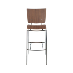 Press barstool walnut | Bar stools | Plycollection