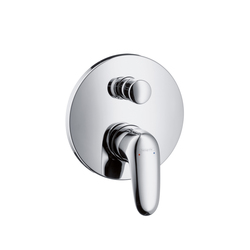 Hansgrohe Metris E Single Lever Bath Mixer for concealed installation with integrated security combination according to EN1717 | Robinetterie pour baignoire | Hansgrohe