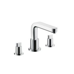 Hansgrohe Metris S 3-Hole Rim-Mounted Bath Mixer DN15 | Bath taps | Hansgrohe