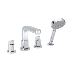 hansgrohe Metris S 4-hole rim mounted bath mixer | Bath taps | Hansgrohe