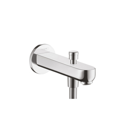 Hansgrohe Metris S Bath Filler 152mm with Diverter | Bath taps | Hansgrohe